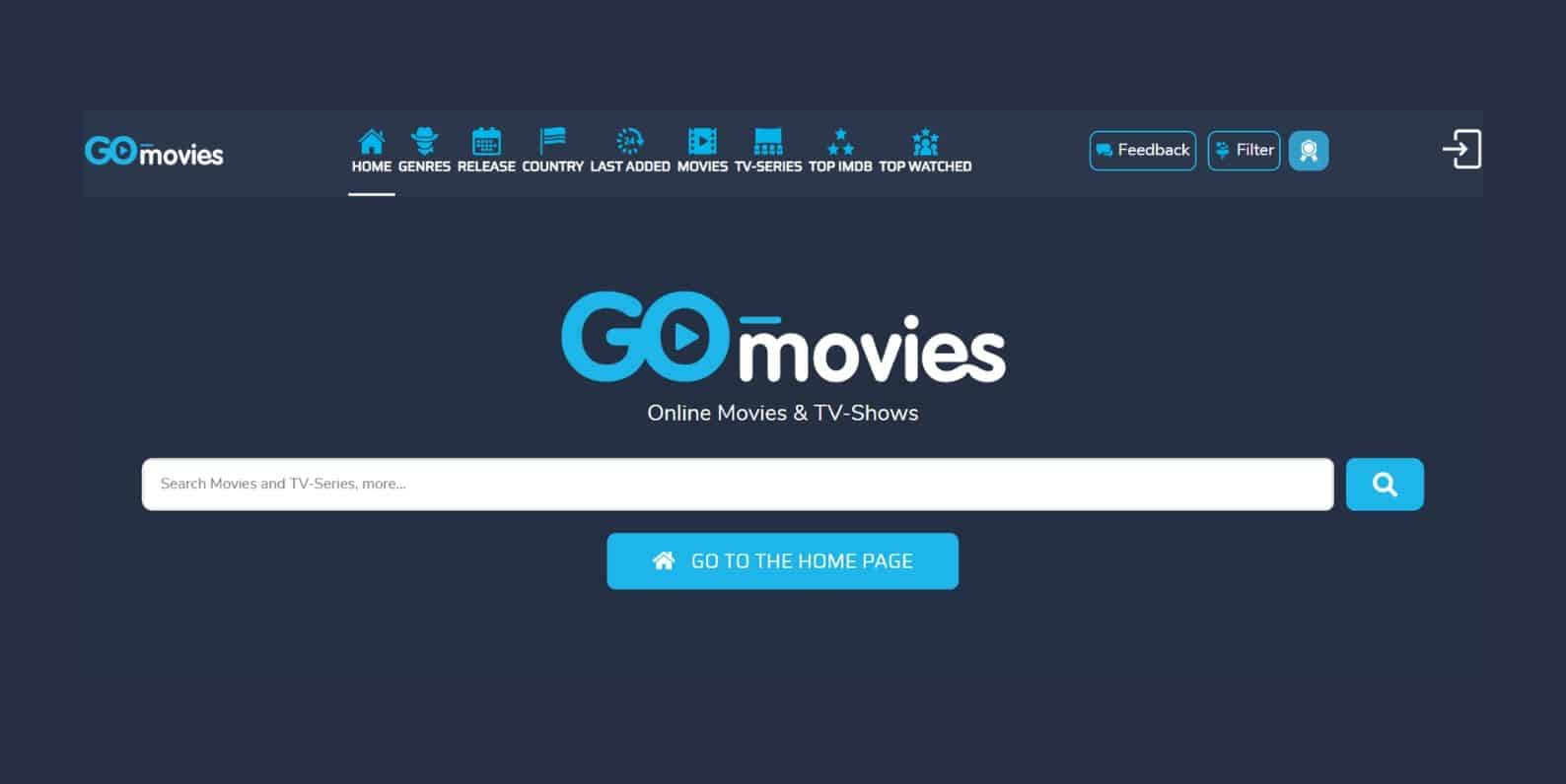 Go Movies, a similar site to 123Movies
