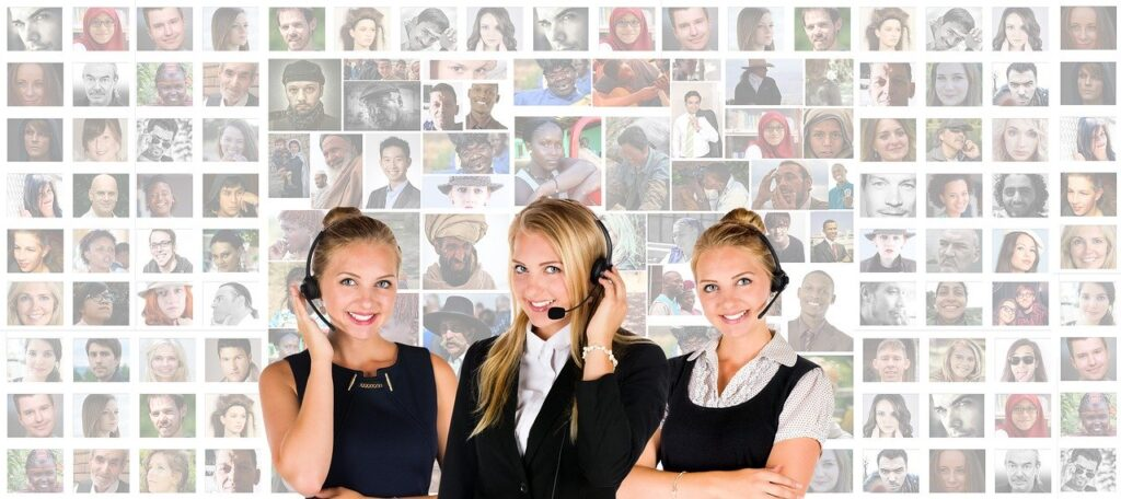 Customer Service team to help you create a website