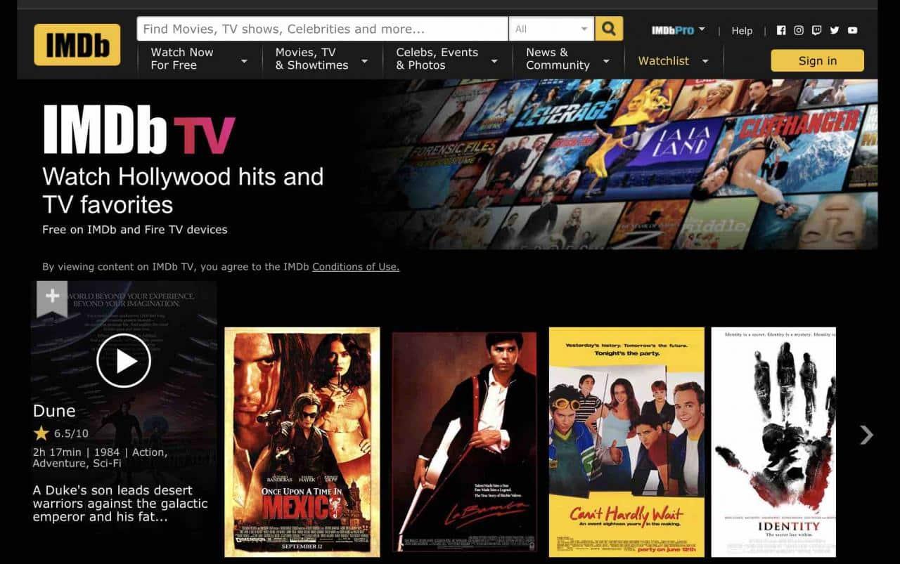 imdb tv free movie download